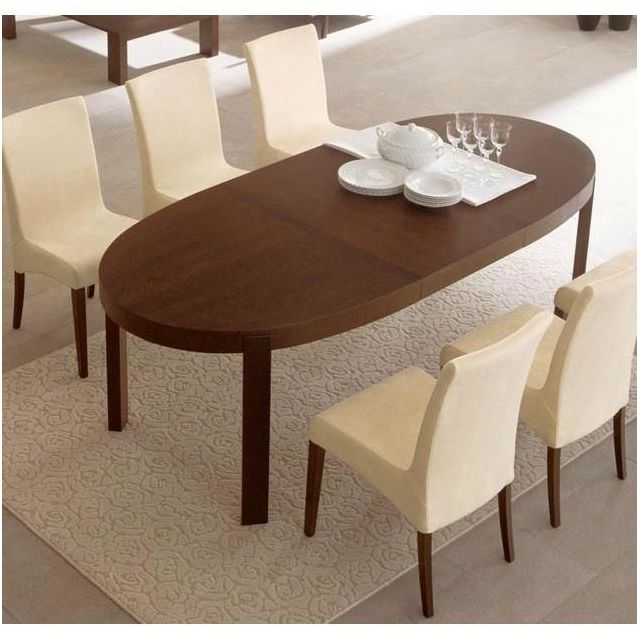 Inside 75 Table repas extensible ovale Atelier 170x100 wengé