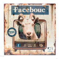 """Class DÉCO - Plaque 20x20 Humoristique Facebook """"Facebouc"""" en métal bleu - décorative murale à suspendre Rétro Vintage"""
