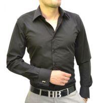 Prestige Man - Chemise mousquetaire noire