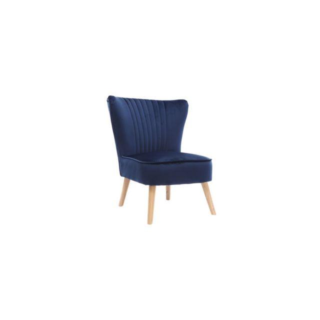 miliboo fauteuil classique velours bleu fonc zola. Black Bedroom Furniture Sets. Home Design Ideas