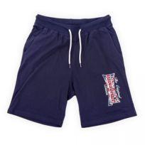 Lonsdale - Short en coton bleu marine homme