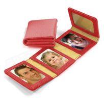 Volumica - Album Photos zig-zag cuir Rouge Beaubourg