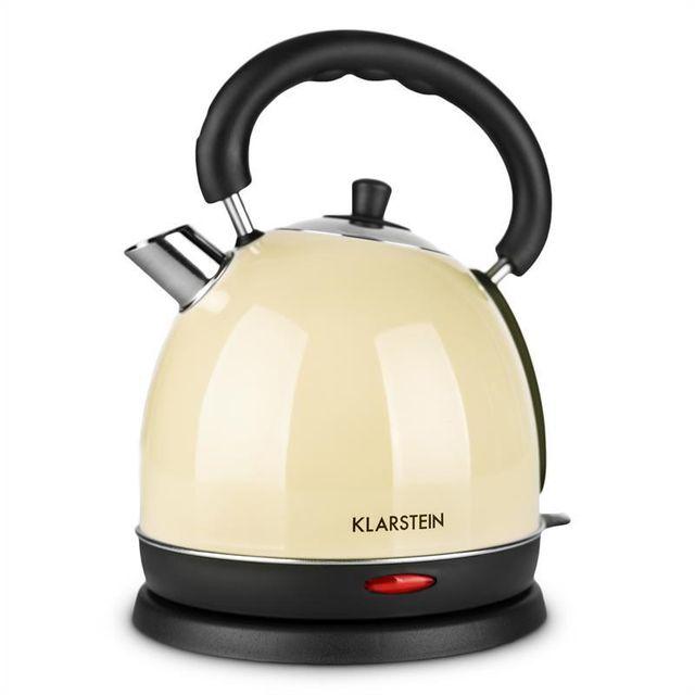 KLARSTEIN Teatime Bouilloire électrique style théière rétro 3000W 1,8l acier - c