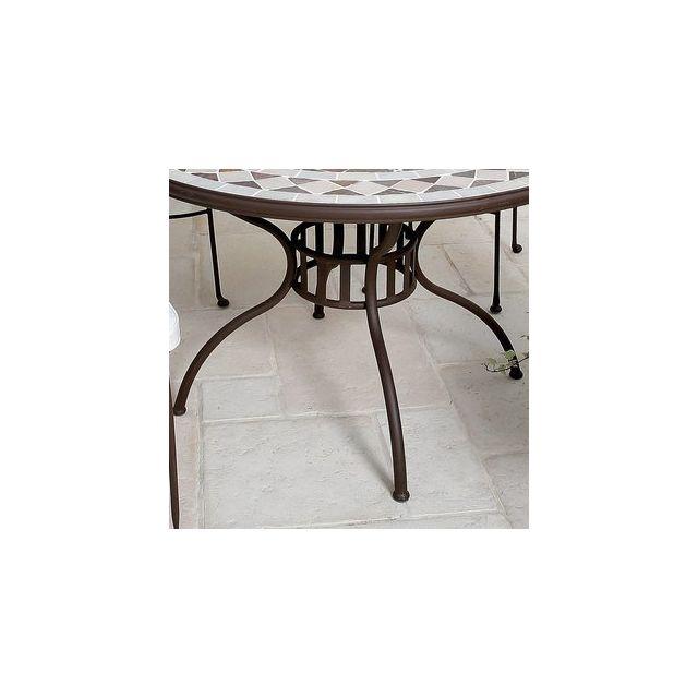 Delamaison - Pied acier pour Table Mosaic 110cm - pas cher ...