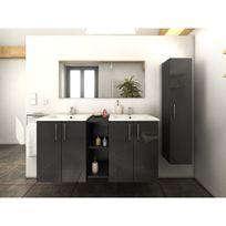meuble salle de bain gris - achat meuble salle de bain gris pas ... - Salle De Bain En Gris