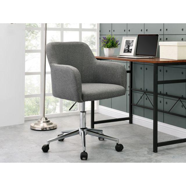 habitat et jardin fauteuil de bureau a roulettes nathan gris clair pas cher achat vente. Black Bedroom Furniture Sets. Home Design Ideas