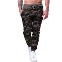 Monsieurmode - Jogging homme camouflage Jogging 705 vert militaire