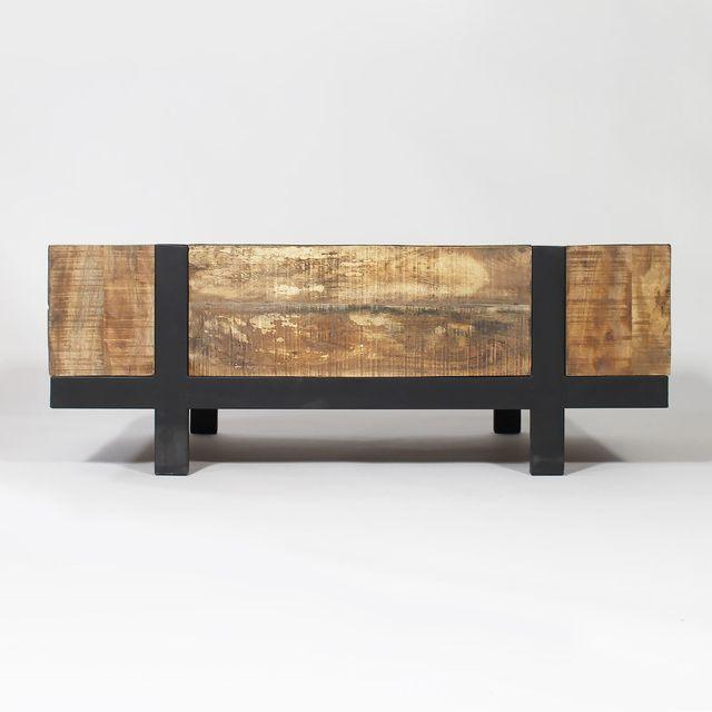 Made In Meubles Table Basse Bois Métal Design Grand Modèle Tbigm