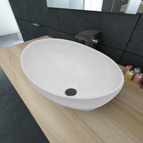 Vidaxl - Luxueuse Vasque à poser en céramique Ovale Blanche 40 x 33 cm