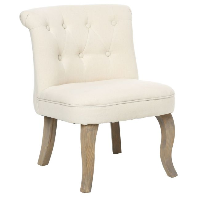 atmosphera fauteuil crapaud calixte h 63 cm lin. Black Bedroom Furniture Sets. Home Design Ideas