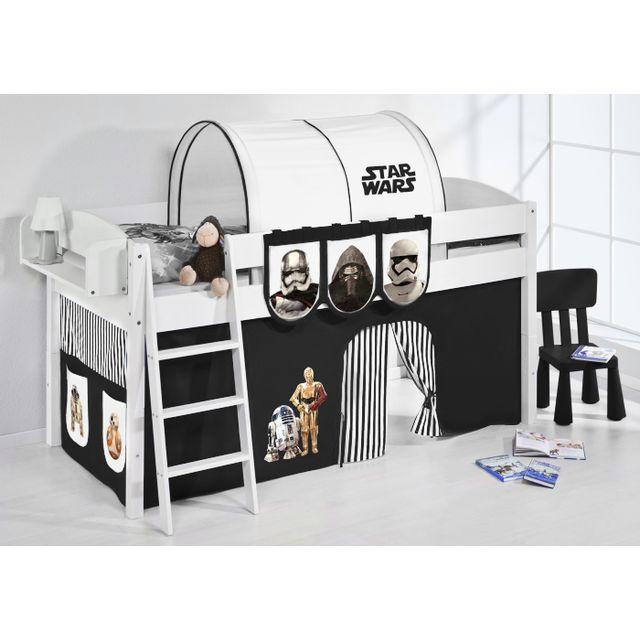 lilokids ida4105kw sw schwarz blanc 90cm x 200cm pas cher achat vente ensembles de. Black Bedroom Furniture Sets. Home Design Ideas