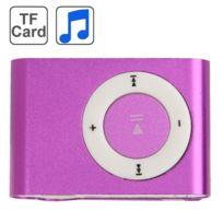 Wewoo - Lecteur Mp3 violet carte Tf Micro Sd Mp3 avec clip en métal
