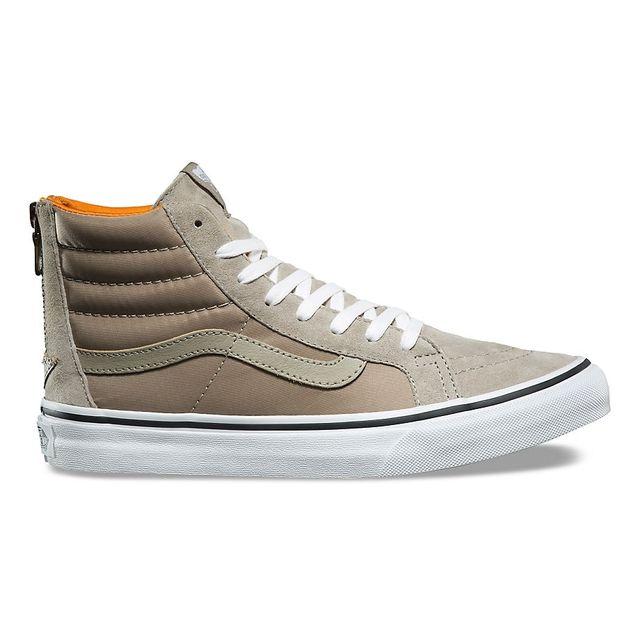 Vans Chaussures Boom Boom Sk8 HI Slim Zip Beige pas cher