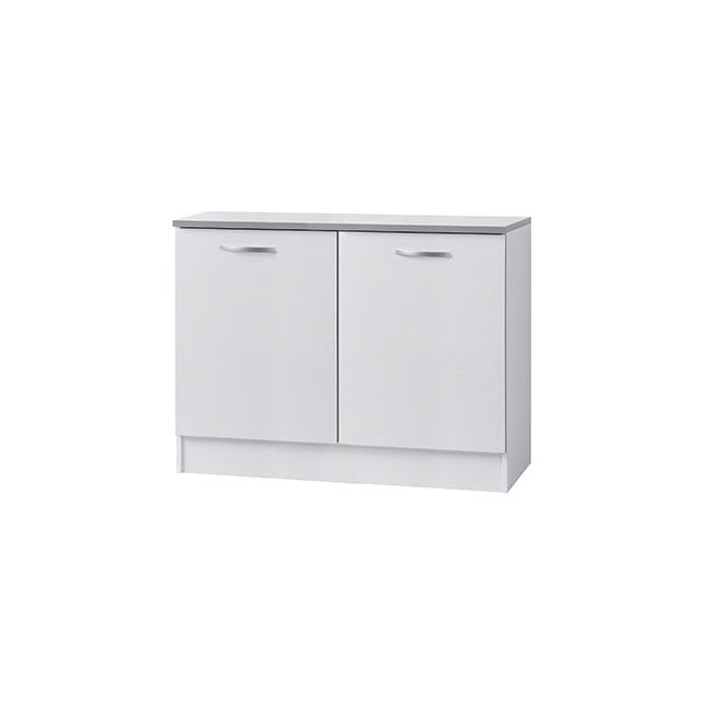 Meuble sous évier L120xH86xP60cm - blanc