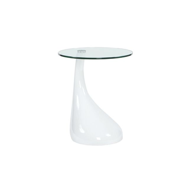 Table basse design 45x45x54cm Teo - blanc