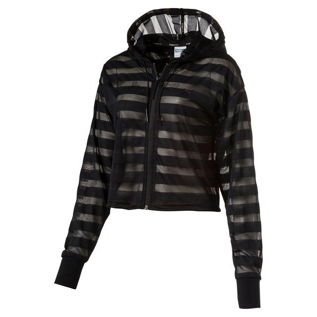 Puma - Veste à capuche Burn Out Fz Hoody Noir - pas cher Achat   Vente Veste  femme - RueDuCommerce 27add33e1290