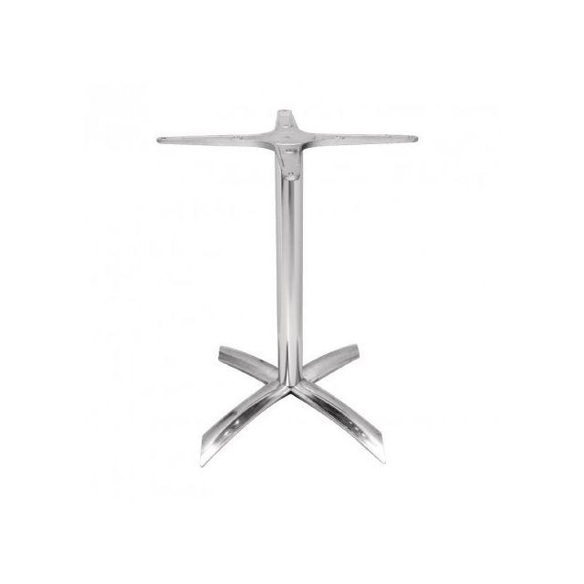 Materiel Chr Pro Pied de table à plateau carré de 600 mm basculant aluminium - Bolero Gf962