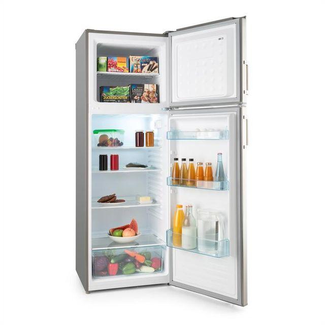 KLARSTEIN - Height Cool Combiné Réfrigérateur congélateur 234/77 l 2 portes Inox