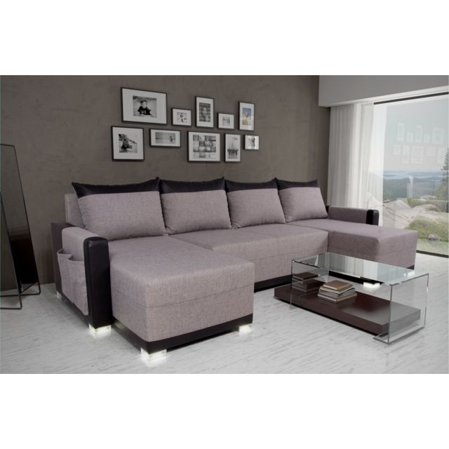Sofa Story Canapé d'angle convertible Bully U