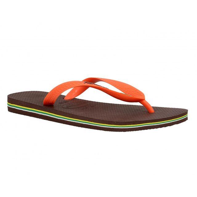 127104d32c4c Havaianas - Brasil Logo caoutchouc Homme-39 40-Cafe + Orange - pas cher  Achat   Vente Sandales et tongs homme - RueDuCommerce