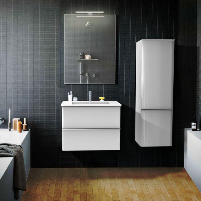 mob in ensemble de salle de bain 60 cm blanc meuble vasque miroir julia pas cher achat. Black Bedroom Furniture Sets. Home Design Ideas