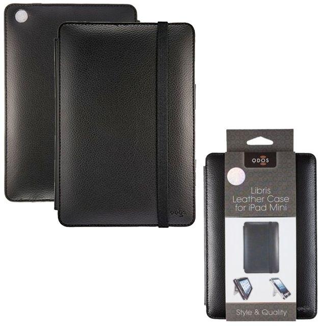 Qdos - Etui Libris cuir noir pour Apple iPad Mini fonction stand
