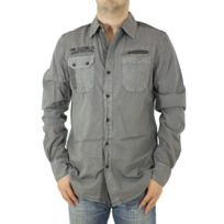 American People - Chemise homme Damage gris