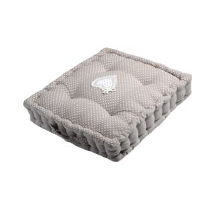 lovely casa coussin de sol v rone 45x45x10cm gris blanc 45cm x 45cm pas cher achat. Black Bedroom Furniture Sets. Home Design Ideas