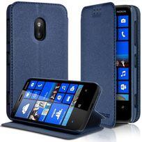 Karylax - Housse Coque Etui à rabat latéral Fonction Support Couleur Bleu pour Nokia Lumia 620 + Film de protection