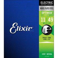 Elixir - Optiweb 19102 - Jeu de cordes guitare électrique 11-49