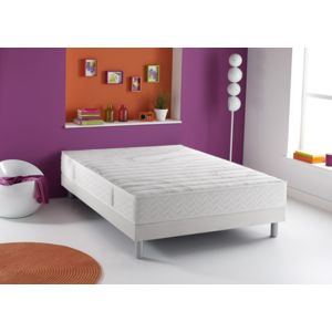 dunlopillo ensemble matelas m moire de forme dream sommier tapissier blanc pas cher achat. Black Bedroom Furniture Sets. Home Design Ideas