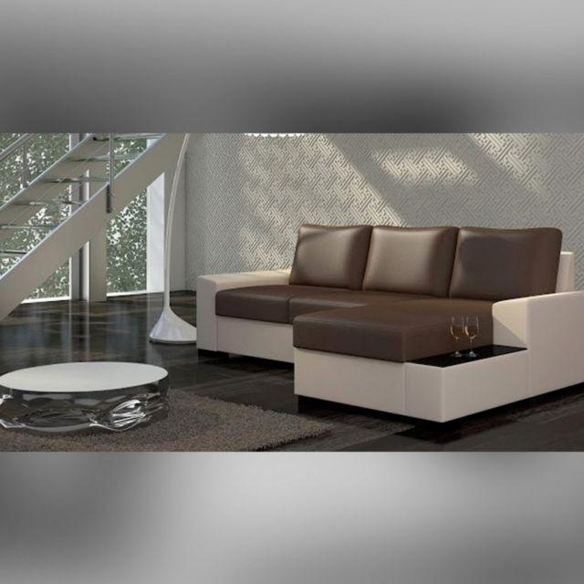 Meubler Design Canapé d'angle droit convertible Newton