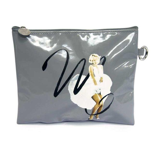 Paris Prix - Trousse Marilyn 21x16,5 cm Gris
