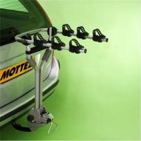 Mottez - Porte-vélos sur attelage, basculable, 3 vélos suspendus A009P3RA, fixation sur boule d'attelage