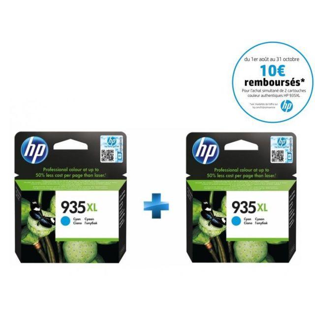 HP C2P24AE - Cartouche d'encre 935XL Cyan + C2P24AE - Cartouche d'encre 935XL Cyan HP 935XL Cartouche d'encre Cyan grande capacité authentique pour HP OfficeJet Pro 6230 ePrinter, 6830 e-AiO + HP 935XL Cartouche d'encre Cyan grande capacité authentique po