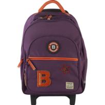 BENSIMON - Sac à dos à roulettes - 46 cm - Violet - Primaire