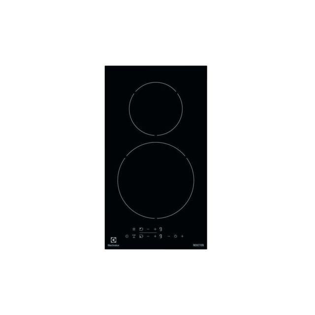 Electrolux Ehh3320nvk - Table De Cuisson Induction Domino - 2 Zones - 3700 W - L 29 X P 52 Cm - Revetement Verre - Noir