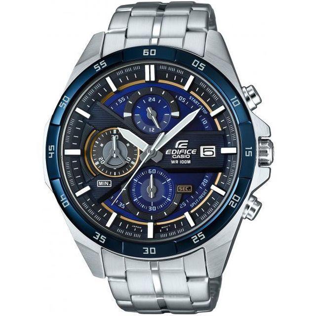 Casio - Montre Casio Edifice Efr-556DB-2AVUEF - Montre Chronographe Acier  Bleue Homme a69ba05ff662