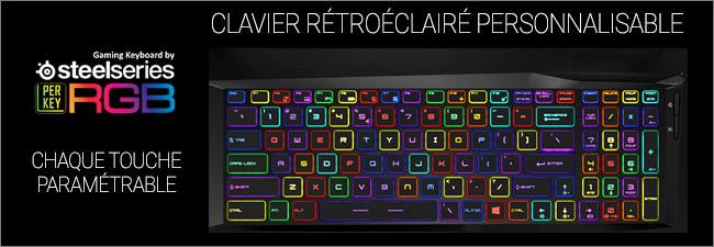 MSI GL - Clavier gaming rétroéclairé RGB