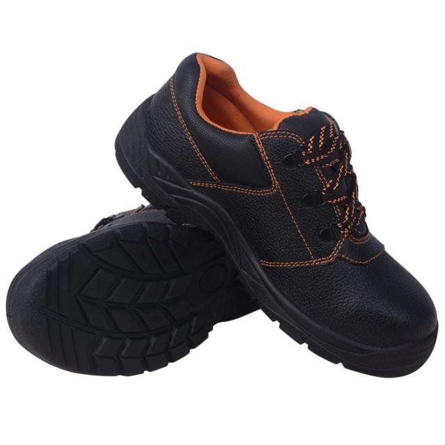840132a09ae75 Vidaxl - Chaussures de protection Noir Taille 46 Cuir - pas cher ...