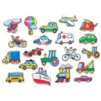 Viga Toys - 0653 - Apprendre À Lire Et À ÉCRIRE - VÉHICULES MagnÉTIQUES - 20 PiÈCES