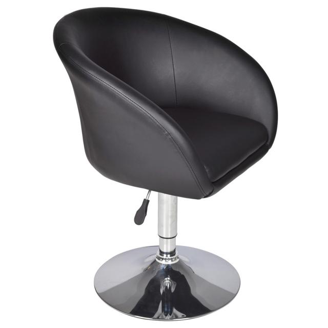 vidaxl fauteuil pivotant rond odyssey noir pas cher achat vente tabourets rueducommerce. Black Bedroom Furniture Sets. Home Design Ideas
