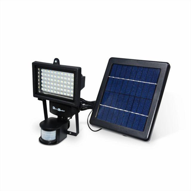 eclairage led solaire ALICEu0027S GARDEN - Projecteur solaire LED - 60 LED puissantes, 420 lumens,  batterie lithium