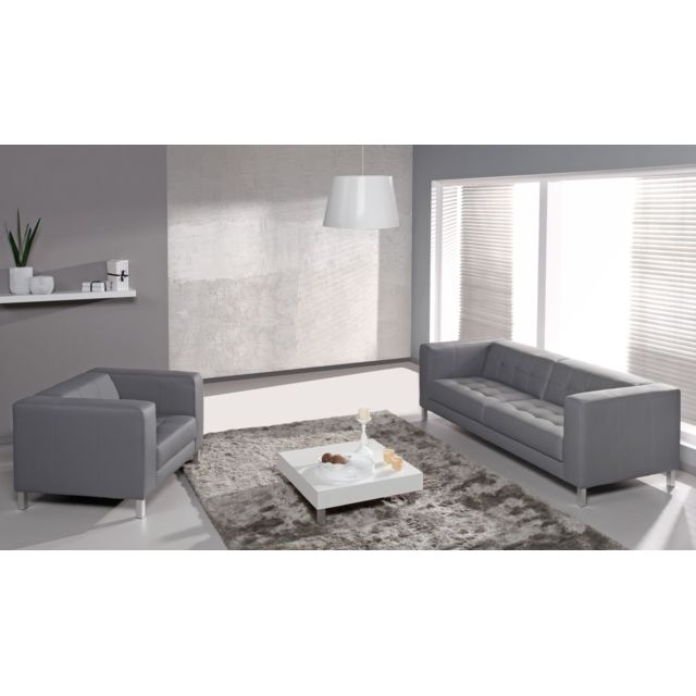 RELAXIMA Canapé Standing : 3 places + fauteuil - Plusieurs coloris au choix