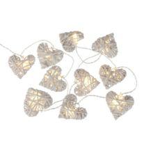 Atmosphera - Guirlande lumineuse en osier Coeur - L. 170 cm Blanc