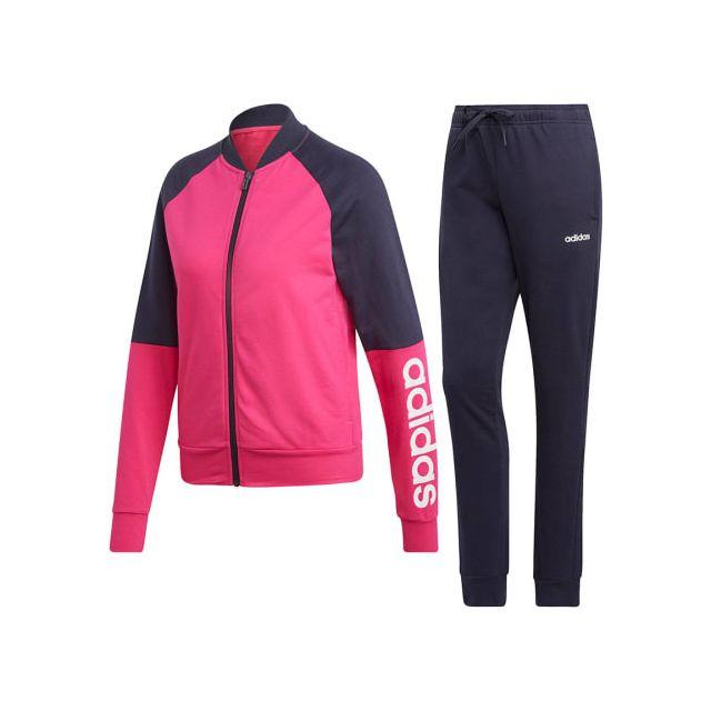 Adidas - Jogging New Cotton Marker rose bleu marine blanc femme ... e34361c52d2