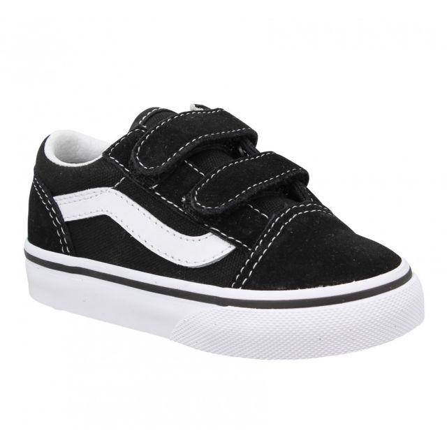 vaste sélection chaussures décontractées la réputation d'abord Old Skool velours toile Enfant-21-Noir