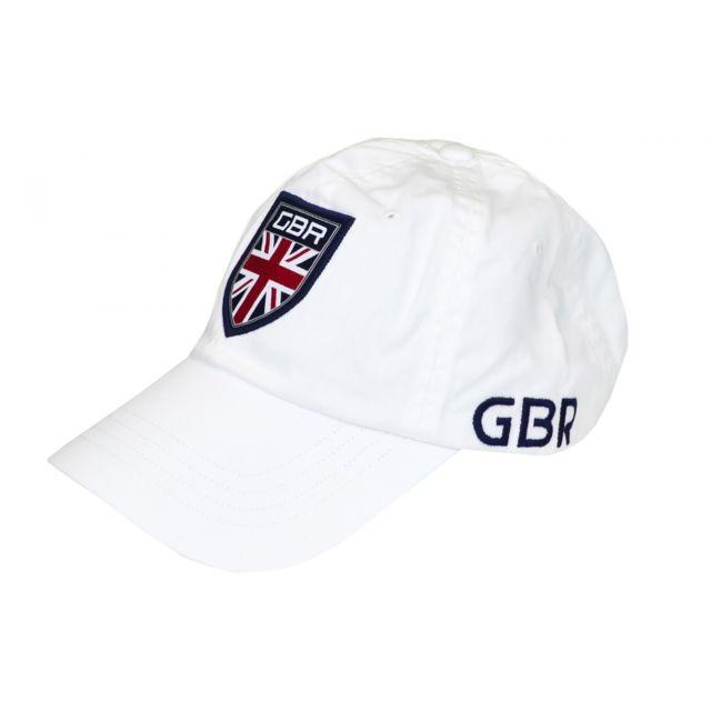f3f6b315268f3f Ralph Lauren - Casquette Grande-Bretagne blanche pour homme - pas cher  Achat   Vente Casquettes, bonnets, chapeaux - RueDuCommerce