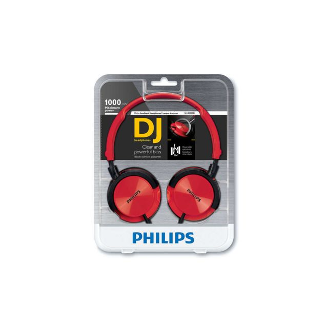 PHILIPS - Casque Arceau - DJ style - Rouge