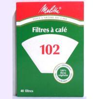Melitta - Filtres Café papier taille 102 : la boite de 40